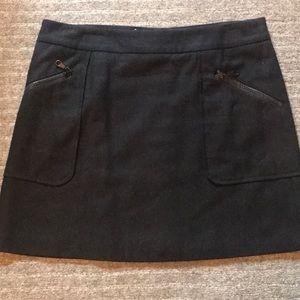 Wool mini skirt.